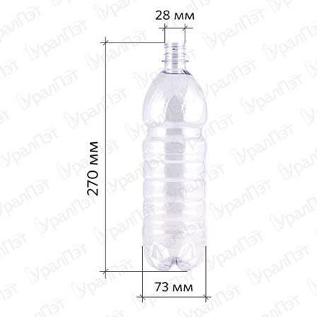 ПЭТ бутылка 1,0 л.